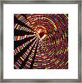 Twirling Under The Christmas Tree Framed Print