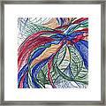 Twirls And Cloth Framed Print