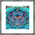 Heart In Blues Framed Print