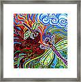 Two Dragonflies Framed Print
