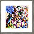 Two Jesters Framed Print by Caitlyn  Grasso