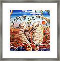 Two Laughing Kookaburras In The Outback Australia Framed Print