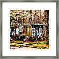 Two Old Cabooses Framed Print