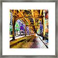 Under The El - 20 Framed Print