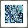 Teal And Purple Tree Framed Print