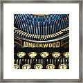 Underwood Typewriter Framed Print