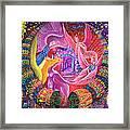 Unicornio Dorado Framed Print