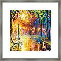 Unresolved Feelings - Palette Knife Oil Painting On Canvas By Leonid Afremov Framed Print