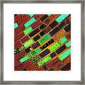 Untitled Rectangular Patterns For Lucy's Diamond Sky Framed Print