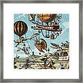 Utopian Flying Machines 19th Century Framed Print