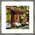 Van Gogh Style Restaurant Framed Print