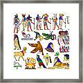 Various Themes Of Ancient Egypt Framed Print