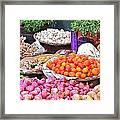 Vegetable Vendor - Omkareshwar India Framed Print