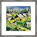 Vencimont Watercolor  Framed Print