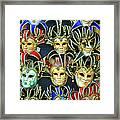 Venetian Opera Masks Framed Print