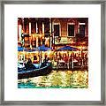 Venice Glow Framed Print