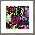 Ventriloquist And Dummy Framed Print