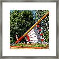 Very Large Pipestone Pipe Sculpture By Former Rock Island Line Railroad Depot In Pipestone-minnesota Framed Print