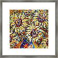 Vibrant Sunflower Essence Framed Print