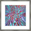 Vibrating Red And Blue Framed Print