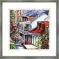 View From A Bourbon Street Balcony Framed Print