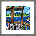 View From The Porch - Cedar Key Framed Print