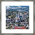 View Of The St. John's Newfoundland From Signal Hill Framed Print