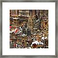 Village Christmas Scene Framed Print