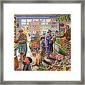 Village Greengrocer  Framed Print