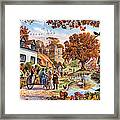 Village In Autumn Framed Print