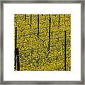 Vineyards Full Of Mustard Grass Framed Print
