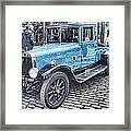 Vintage Blue Car 2 Framed Print