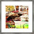 Vintage Cars Collage Framed Print