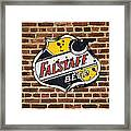 Vintage Falstaff Beer Shield Dsc07192 Framed Print