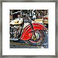 Vintage Indian Motorcycle - Live To Ride Framed Print