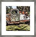 Vintage Rusty Old Truck 1940 Framed Print