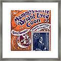 Vintage Sheet Music Cover Framed Print