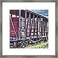 Vintage Steam Locomotive Carriages Framed Print