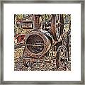 Vintage Steam Tractor Framed Print
