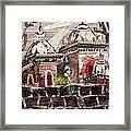Vintage -temples  Framed Print