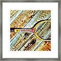 Vintage Tennis Framed Print by Benjamin Yeager