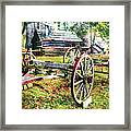 Vintage Wagon On Blue Ridge Parkway II Framed Print by Dan Carmichael