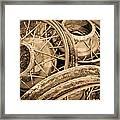 Vintage Wire Wheels Framed Print by Steve McKinzie