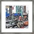Vintage Workshop In Colour Framed Print