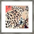 Vogue Cover Illustration Of A Woman Peering Framed Print