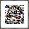 Wagon Wheel Chair Framed Print