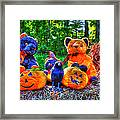 Waiting For The Great Pumpkin  Drybrush 01 Grunge Framed Print