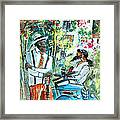 Walking Stick Man At The Blues Festival In Cazorla Framed Print