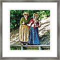 Walking With Squirrels  Framed Print