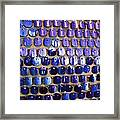 Wall Of Blue Framed Print by Anna Villarreal Garbis
